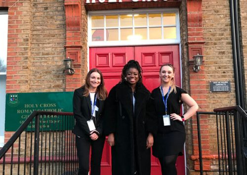 Holy Cross students interview Clara Amfo for ELLE magazine!
